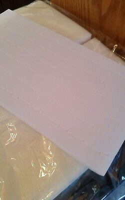 White Foam 72 Slot Ring Display Pad Set Of 12 Inserts