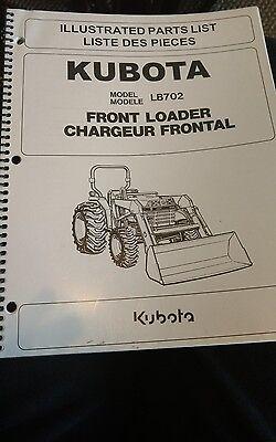 Kubota Lb702 Front Loader Illustrated Parts List