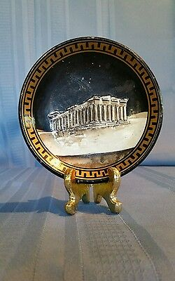 "Small 3-D Decorative Bowl ""Parthenon"" Hand Made & Hand Painted in Greece"