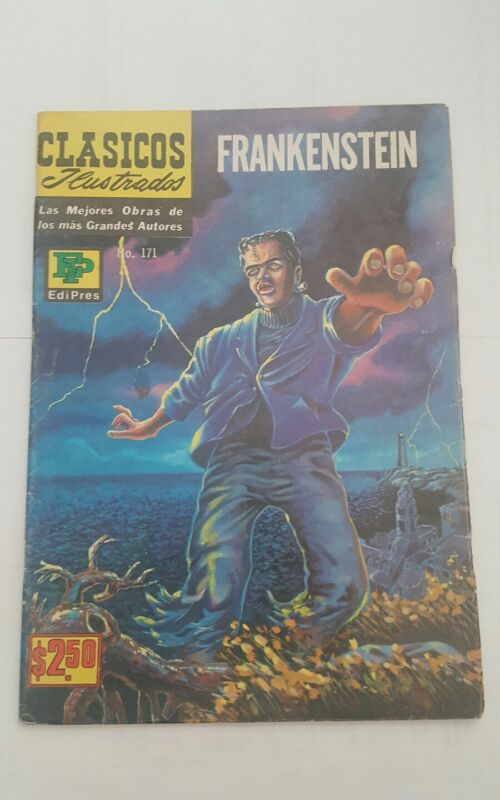 classics illustrated  mexican edition, clasicos ilustrados # 171 ,frankenstein