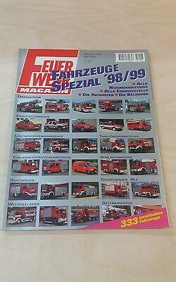 """Feuerwehr Magazin Fahrzeuge Spezial 98/99   aus  Oktober 1998   """"Sonderband""""!!!!"""