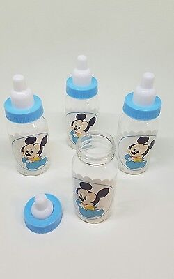 12Mickey Mouse Fillable Bottles  Baby Shower Favors Boy Party Decorations - Baby Mickey Party Decorations