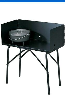 Lodge Outdoor Cooking Table, Black, folds up its cast iron  -