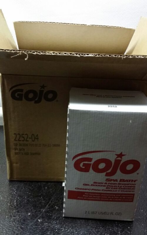 GOJO 2252-04 SPA BATH BODY & HAIR SHAMPOO CARTON OF 4