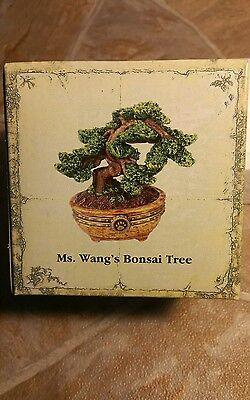 Boyds Bears MS WANGS BONSAI TREE Resin Treasure Jewelry Box New In Box