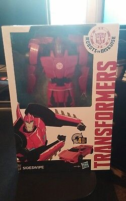 Transformers Robots In Disguise 4-Step Changers Sideswipe Figure NIB - Sideswipe Transformers 4