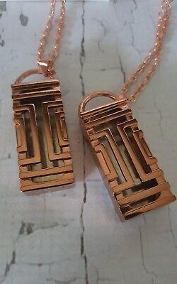 2 fit bit flex rose gold necklace ..