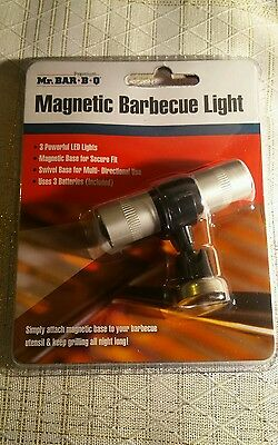 Mr Bar-B-Q Magnetic Barbecue Light GR8 For Night Time Grilling NIB