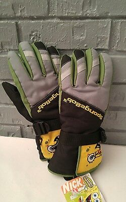 Spongebob Squarepants Nickelodeon Thinsulate Insulated Gloves Boys Size Medium