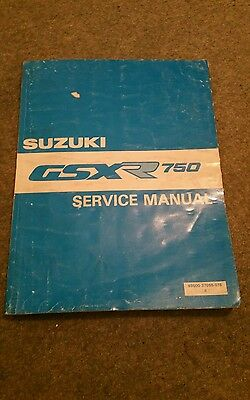 Genuine Suzuki GSXR750 Workshop Service Manual