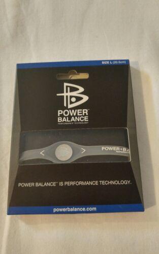 POWER BALANCE Wristband Bracelet silver/ clear Size L 20.5cm