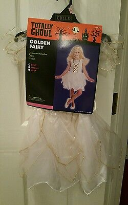 NWT Girls Small GOLDEN FAIRY Angel Totally Ghoul Halloween Costume