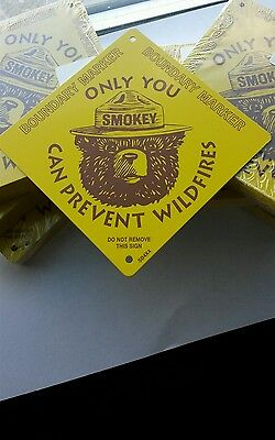25 Count. Boundary Markers.A Smokey Bear  A Prevent Forest Fires,Licensed item.