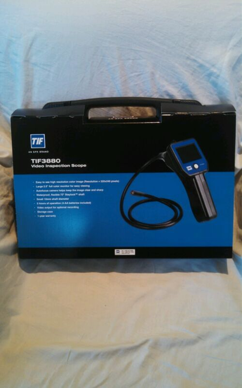 New TIF Instruments 3880 HVAC Video Inspection Camera Scope Borescope SPX