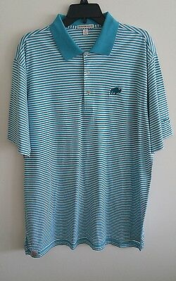 Mens Peter Millar Golf Polo Shirt Size Extra Large Xl Huntsman Springs Buffalo