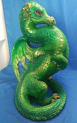 Windstone Editions Green Emerald Dragon Fantasy Figurine by Melody Peña 1991