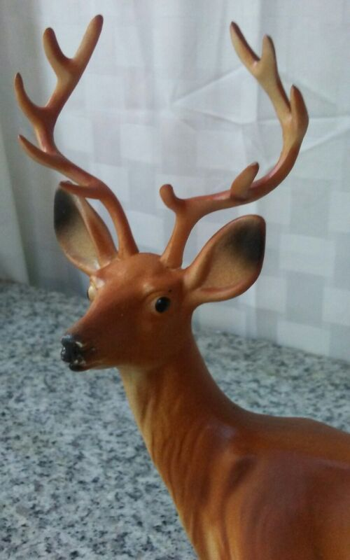vintage Christmas decoration plastic deer