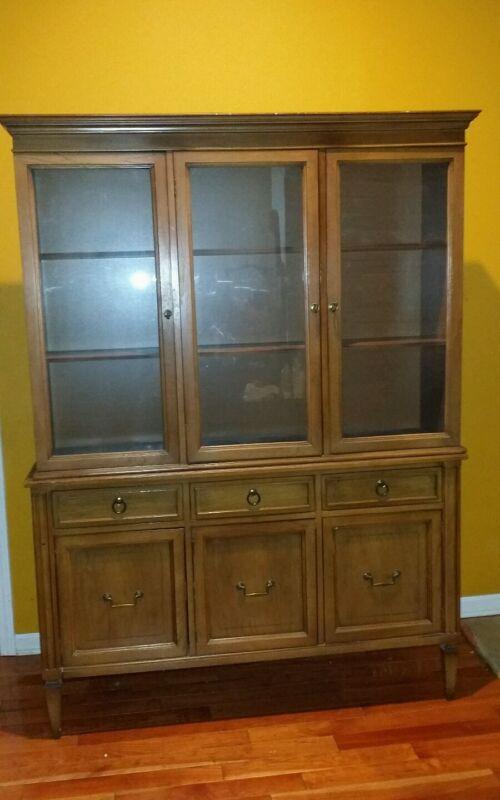 Genuine J.L. Metz Furniture Co. China Cabinet Kitchen Hutch
