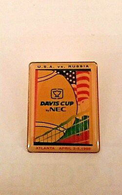 1998 Davis Cup By Nec Us Vs  Russia Collectible Pin Andre Agassi Us Win Tennis
