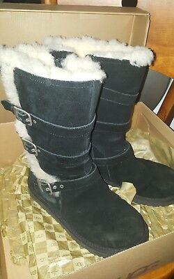 UGG Australia Big Kid's Maddi Sheepskin Boots - Black US Size 4 for sale  New York