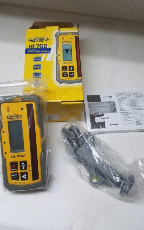 Spectra Precision HL760 Digital Readout Receiver w/Rod Clamp