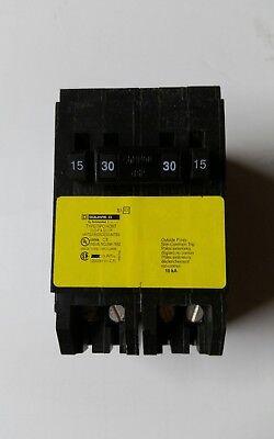 Square D Homeline Single-pole 1-30 Amp Two-pole Quad Tandem Circuit Breaker
