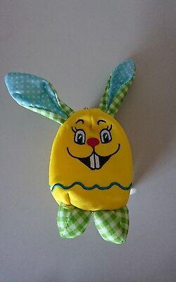 Tasche Kopf Hase gelb für Kleinkind kleines Täschchen Reißverschluss Oster Hase
