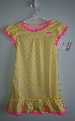 Pink Nightgown Girls ($26 Carter's Girls SMALL 4-5 Short Flutter Sleeve Nightgown YELLOW Pink)