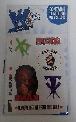 WWE - Wrestling Tattoos Set 11 On 2 Sheets Kane John Cena DX WWE WWF Wrestling