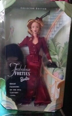 Fabulous Forties Barbie 1940s outfit Great Fashions of 20th Century 1998 NRFB
