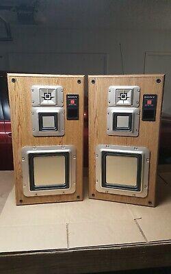 Vintage Sony APM 790 Speakers Pair no covers
