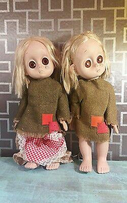 Little Miss No Name Doll 1965 Hasbro set of 2 vintage rare