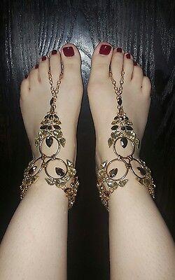 Women Bead Anklet Chain Ankle Bracelet Barefoot Sandal Beach Foot Jewelry Gold