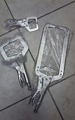 Set Of 3 C Vise Clamps 6002