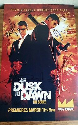 From Dusk Till Dawn the series cast x7 signed poster - Eiza Gonzalez Zane