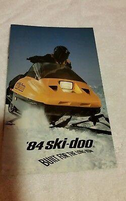 c93c19438f6 1984 vintage Ski Doo foldout brochure