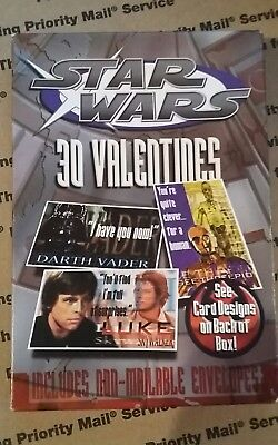 Star Wars Valentine Box (VINTAGE STAR WARS UNOPENED BOX 3-D VALENTINE CARDS-BOBA FETT,DARTH)