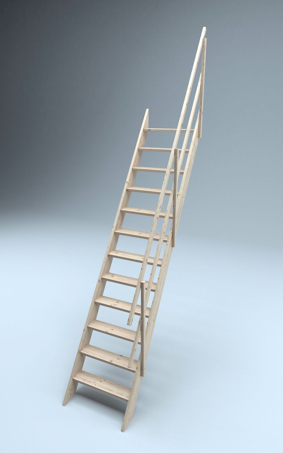 Oxford Timber 700mm Staircase Space Saver Stairs Ladder