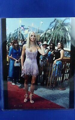 BRITNEY SPEARS Pink Tassle dress Teen Choice Awards 2000 Candid photo 8x10