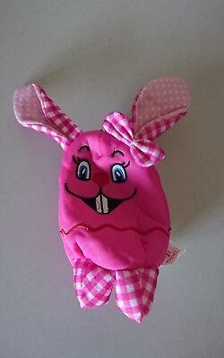 Tasche Kopf Hase rosa für Kleinkind kleines Täschchen Reißverschluss Oster Hase