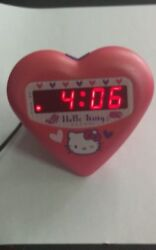 hello kitty digital alarm clock heart shape