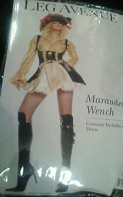 Hot Maid Costumes (Leg Avenue  Marauder's Wench  Sexy Pirate Era Bar Maid Hot! Halloween Costume )