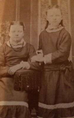 Vintage Civil War late 1800s Photo Twin Girls