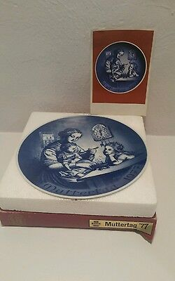 MUTTERTAG Bareuther Bavaria Plate MOTHERS DAY 1977