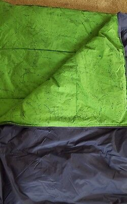 Comfy Fluffy Land's End Youth Nautical Sleeping Bag Green & Blue 152.11