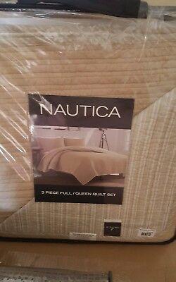 *NEW* Nautica 3 Piece Full/Queen Quilt Set