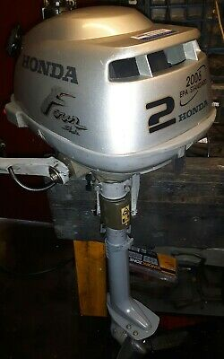 Honda 2hp 4 stroke outboard motor serviced with warranty