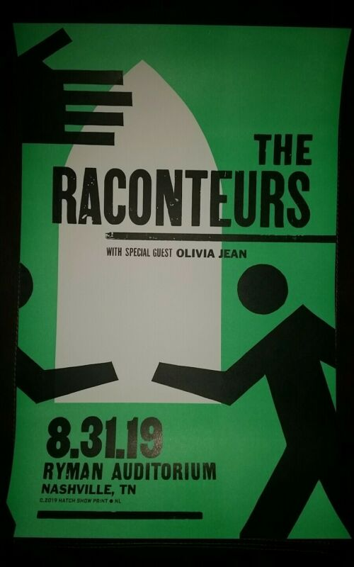 2019 RACONTEURS Ryman HATCH SHOW PRINT Nashville Poster Jack White Stripes #3
