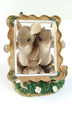 Fitz & Floyd Charming Tails Family Portrait Mice Photo Frame Figurine with Box