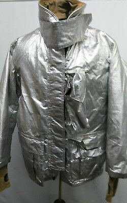 Globe Firefighter Aluminized Proximity Suit Jacket Size  46x32 Pre Owned